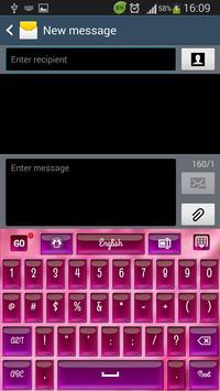 Laser Pink Keyboard apk screenshot