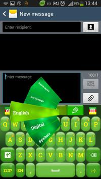 Green Color Keyboard poster