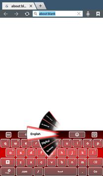 Red Keyboard apk screenshot