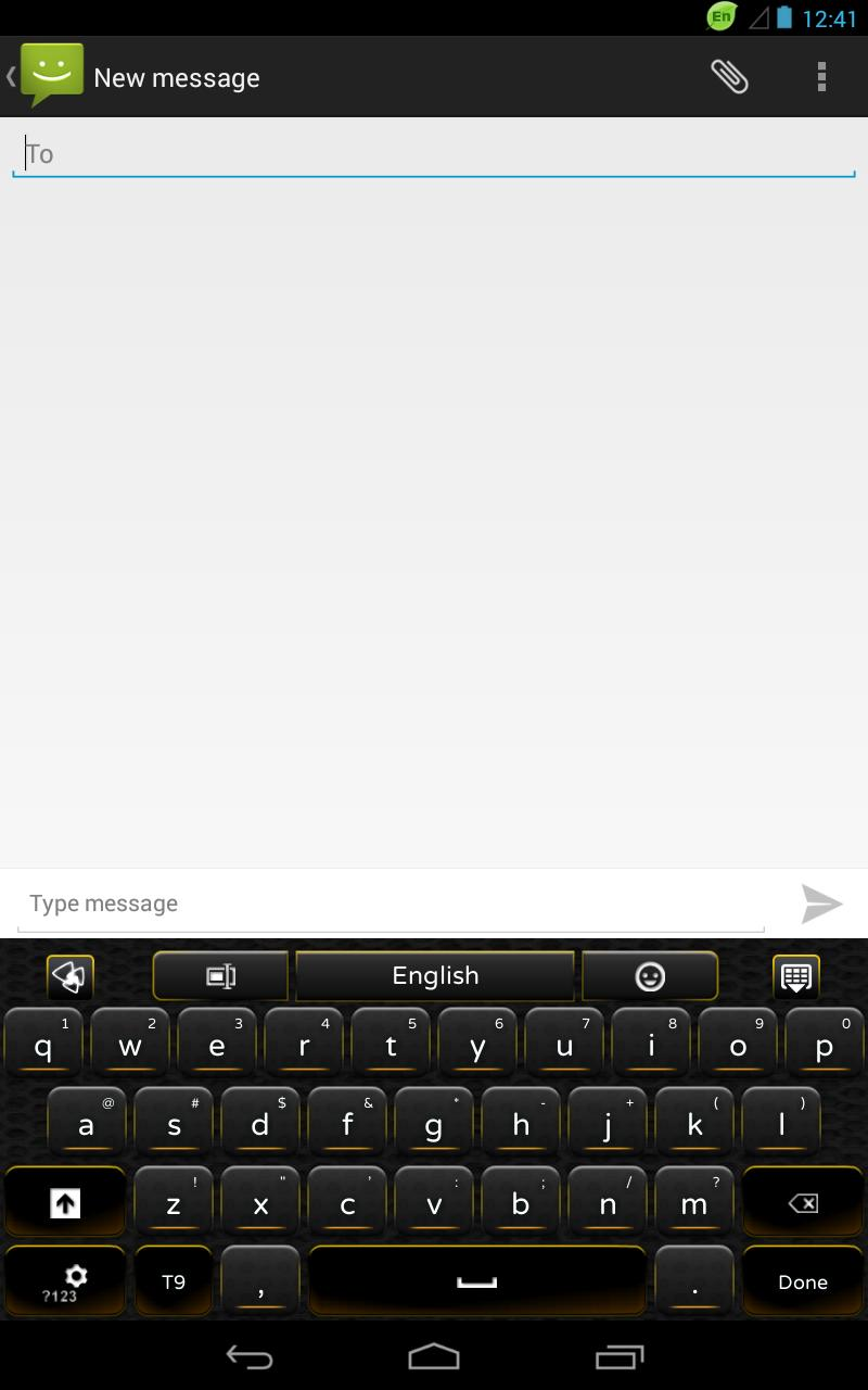 GO Keyboard Black Yellow for Android - APK Download