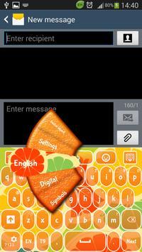 GO Keyboard Orange poster