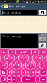 GO Keyboard Pink Stars apk screenshot