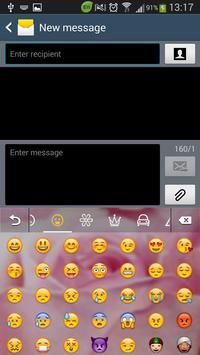 Pink Rose Keyboard screenshot 1