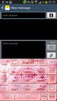 Pink Rose Keyboard screenshot 3