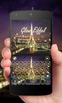 Glow Eiffel GO Keyboard Theme poster