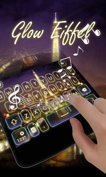 Glow Eiffel GO Keyboard Theme apk screenshot