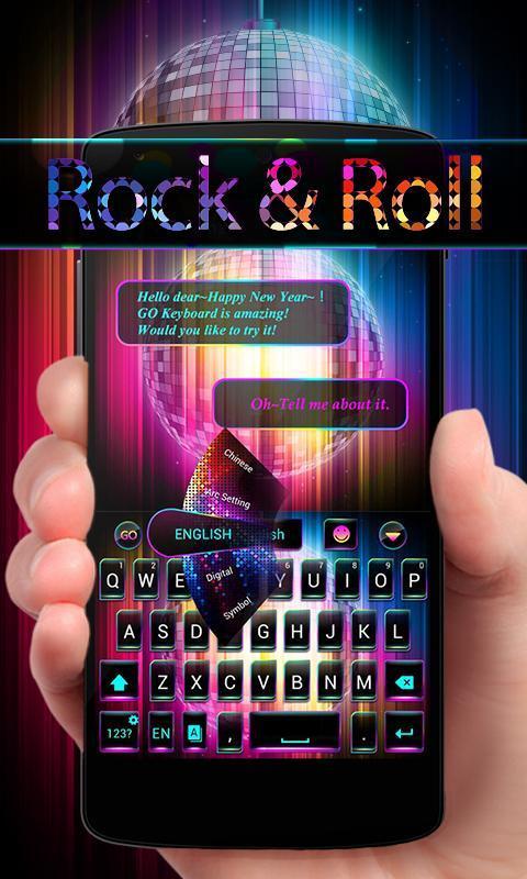 Rock Roll Go Keyboard Theme Apk Download Free Personalization