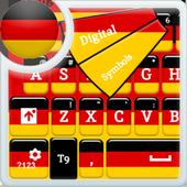 لوحة المفاتيح الألمانية أيقونة