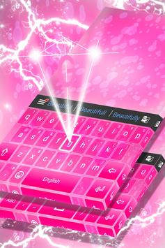 Pink Keyboard Theme apk screenshot