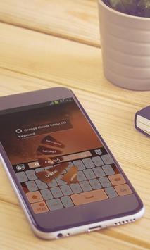 Orange clouds Keyboard Design screenshot 1