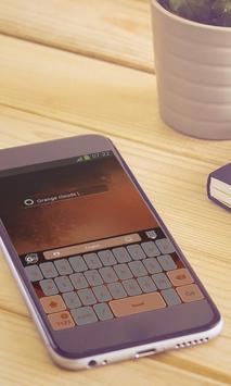 Orange clouds Keyboard Design screenshot 2