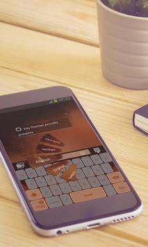 Orange clouds Keyboard Design screenshot 4