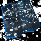 Deep blue sky Keyboard Design icon