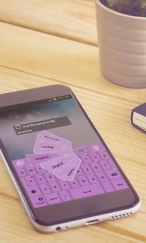 Lavender galaxy Keyboard poster