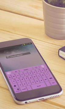 Lavender galaxy Keyboard screenshot 2