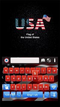 American Keyboard Theme(US Flag) apk screenshot