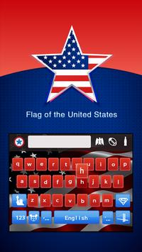American Keyboard Theme(US Flag) poster