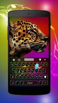 Cheetah Keyboard Theme poster