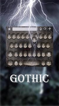 Gothic Keyboard Theme screenshot 3
