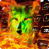 Fire Wolf Keyboard Theme icon