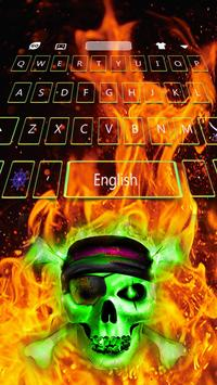 Hell Skull Fire Keyboard Theme poster