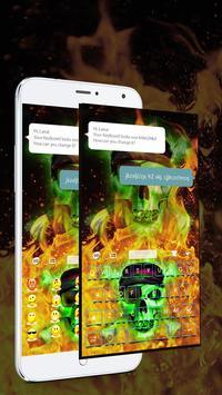 Hell Skull Fire Keyboard Theme apk screenshot