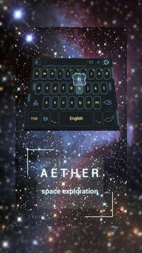 Galaxy Space Keyboard Theme poster