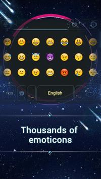 Galaxy Space Keyboard Theme screenshot 1