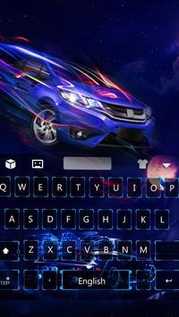 Neon Car Keyboard Theme poster