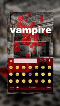 Vampire Keyboard Theme screenshot 3