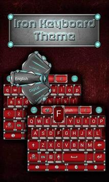 Iron Emoji keyboard Theme poster