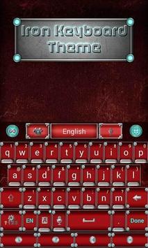 Iron Emoji keyboard Theme apk screenshot