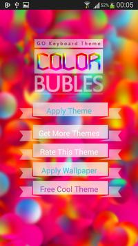 GO Keyboard Color Bubble Theme poster