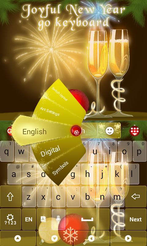 Joyful New Year Go Keyboard Apk Download Free Personalization App