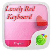 Lovely Red GO Keyboard Theme icon