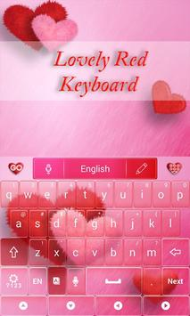 Lovely Red GO Keyboard Theme screenshot 1