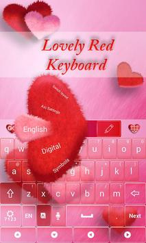 Lovely Red GO Keyboard Theme screenshot 2