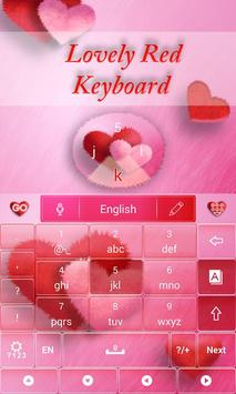 Lovely Red GO Keyboard Theme screenshot 3