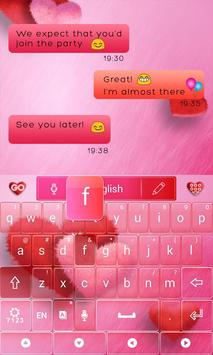 Lovely Red GO Keyboard Theme screenshot 4