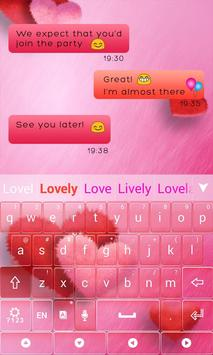 Lovely Red GO Keyboard Theme screenshot 5