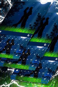 Lovers Night Keyboard Theme screenshot 4