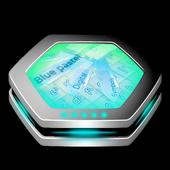 Blue pastel Keyboard Art icon