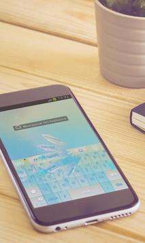 Blue pastel Keyboard Art apk screenshot