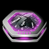 Charcoal Silver Keyboard Art icon