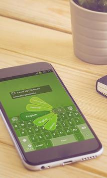 Green leafs Keyboard Art poster