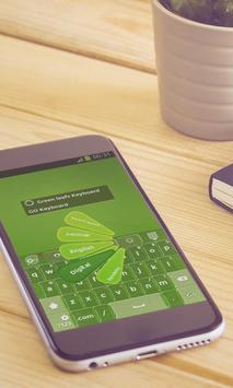 Green leafs Keyboard Art apk screenshot