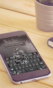 Sea foam splashes Keyboard Art apk screenshot