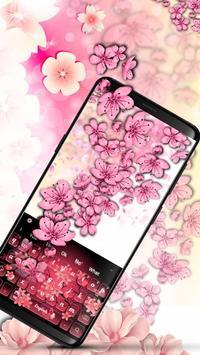 Cherry Blossom Keyboard poster