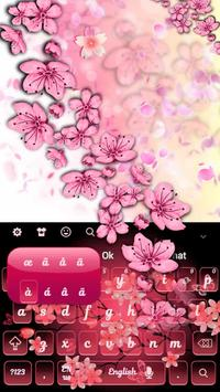 Cherry Blossom Keyboard apk screenshot