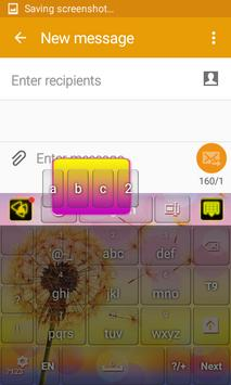 Colored Dandelion Keyboard apk screenshot